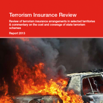 Terrorism Insurance Review report 2013. Cover image.